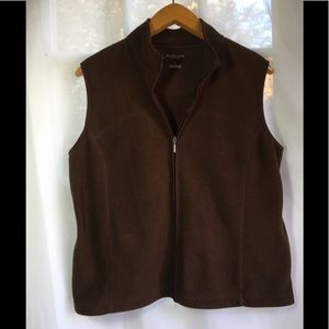 Van Heusen Women's Brown Vest Size Large